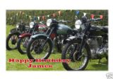 Personalised Classic Motorbikes Greetings Card